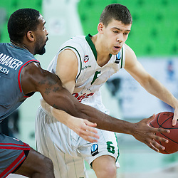 20150107: SLO, Basketball - EuroCup 2014/15, KK Union Olimpija vs Brose Baskets Bamberg
