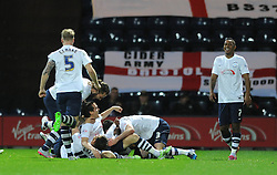 Neil Kilkenny of Preston North End celebrates with his team mates after scoring - Mandatory byline: Dougie Allward/JMP - 07966386802 - 15/09/2015 - FOOTBALL - Deepdale Stadium -Preston,England - Bristol City v Preston North End - Sky Bet Championship