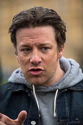© Licensed to London News Pictures. 16/03/2016. London, UK. Celebrity chef JAMIE OLIVER In Westminster on the day that George Osborne announced a sugar tax in his budget. Photo credit: Ben Cawthra/LNP