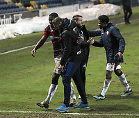 Bolton Wanderers Manager Ian Evatt celebrates as the game ends<br /> <br /> Photographer Mick Walker/CameraSport<br /> <br /> The EFL League 2 - Mansfield Town v Bolton Wanderers  - Wednesday 17th February  2021 - One Call Stadium-Mansfield<br /> <br /> World Copyright © 2020 CameraSport. All rights reserved. 43 Linden Ave. Countesthorpe. Leicester. England. LE8 5PG - Tel: +44 (0) 116 277 4147 - admin@camerasport.com - www.camerasport.com