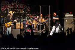 The Marshall Tucker Band performs at Jester's Live located at Bruce Rossmeyer's Destination Daytona during Daytona Bike Week 75th Anniversary event. FL, USA. Saturday March 12, 2016.  Photography ©2016 Michael Lichter.