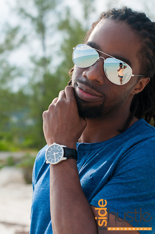 A few photos from a trip to Freeport, Grand Bahama. You can see me reflected in his sunglasses.