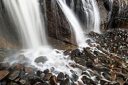 Fall Creek Waterfall, Hug Point State Recreation Area, Oregon, USA