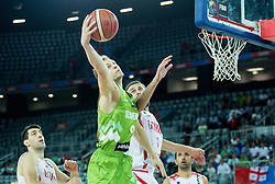 Jaka Blazic of Slovenia during basketball match between Slovenia and Georgia at Day 2 in Group C of FIBA Europe Eurobasket 2015, on September 6, 2015, in Arena Zagreb, Croatia. Photo by Vid Ponikvar / Sportida