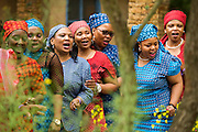 Singers on the Sentebale - Hope in Vulnerability Garden - RHS Chelsea Flower Show, Chelsea Hospital, London UK, 18 May 2015.