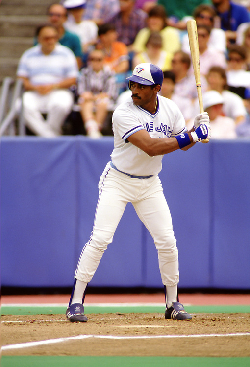 TORONTO - 1988: Willie Upshaw of the Toronto Blue Jays bats during an MLB game at Exhibition Stadium in Toronto, Ontario, Canada during the 1988 season.  *** Local Caption *** Willie Upshaw