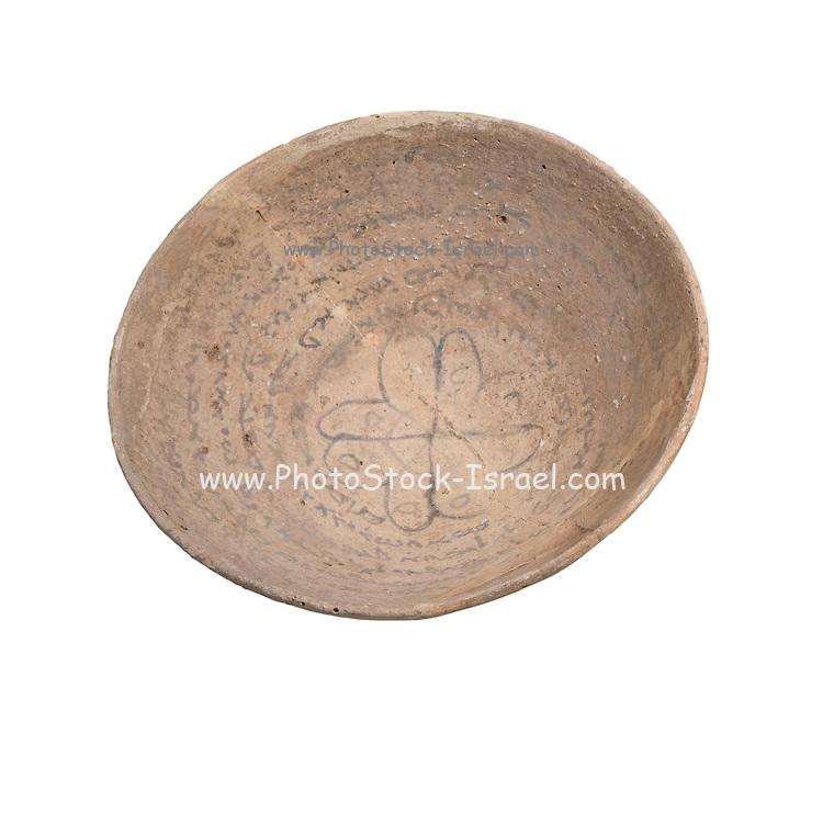 A Mandaic Incantation Bowl with a protective inscription 5-6th century CE