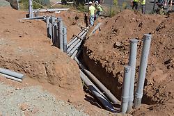 Boathouse at Canal Dock Phase II | State Project #92-570/92-674 Construction Progress Photo Documentation 03 on 16 September 2016. Image No. 03 Underground Utilities