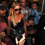 U.S. heiress, actress and singer Paris HILTON arrives at Ataturk international airport in Istanbul, September 20, 2011. The name of the most talked about models of shoes designed by Hilton, Divarese will introduce a collection of shoes sold in stores. Attention! ONLY Sweden, Norway, Denmark and the Baltic countries. Photo by TURKPIX