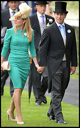 Autumn Phillips and Peter Phillips arrive for  Ladies Day at Royal Ascot 2013 Ascot, United Kingdom,<br /> Thursday, 20th June 2013<br /> Picture by Andrew Parsons / i-Images