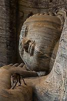 Reclining Buddha, Gal Vihara, Ruins of ancient city, Polonnaruwa, Sri Lanka.