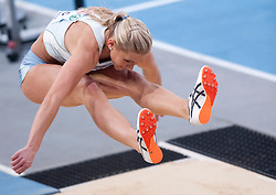 SNEZANA RODIC (SLOVENIA) COMPETES IN WOMEN'S LONG JUMP FINAL DURING EUROPEAN ATHLETICS INDOOR CHAMPIONSHIPS PARIS 2011 AT BERCY HALL...PARIS , FRANCE , MARCH 05, 2011..( PHOTO BY ADAM NURKIEWICZ / MEDIASPORT )..PICTURE ALSO AVAIBLE IN RAW OR TIFF FORMAT ON SPECIAL REQUEST.