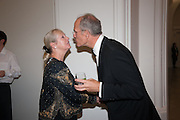 JACQUI BEECROFT; SANDY NAIRNE, Mark Weiss dinner, Nationaal Portrait Gallery. London. 15 October 2012.