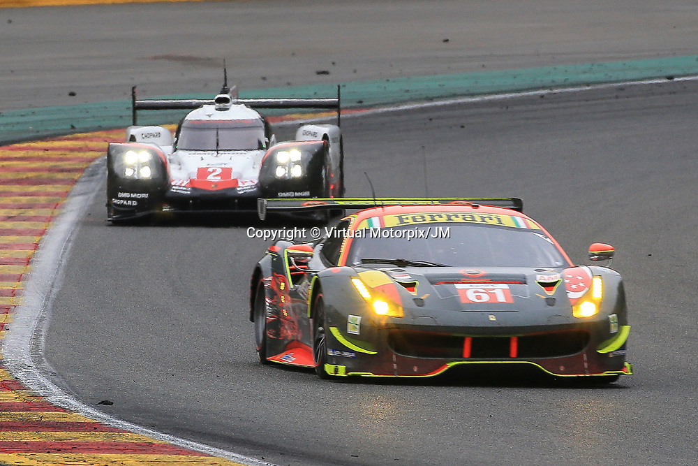 #61, Clearwater Racing, Ferrari 488 GTE, driven by, Weng Sun Mok, Keita Sawa, Matthew Griffin, FIA WEC 6hrs of Spa 2017, 06/05/2017,