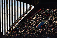 a general view of Aston Villa fans.Barclays Premier league match, Aston Villa v Swansea city at Villa Park in Birmingham, the Midlands on Saturday 24th October 2015.<br /> pic by  Andrew Orchard, Andrew Orchard sports photography.