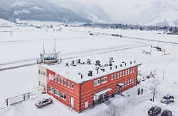 THEMENBILD - Hauptgebäude mit Tower am Flugplatz Zell am See (LOWZ), hier dürfen Flugzeuge bis maximal 5,7 Tonnen Gesamtgewicht landen, aufgenommen am 24. 01 2019 in Zell am See, Oesterreich // the main building with tower at the airfield Zell am See (LOWZ), here aircraft may land up to a maximum of 5.7 tons total weight in Zell am See, Austria on 2019/01/24. EXPA Pictures © 2019, PhotoCredit: EXPA/ JFK