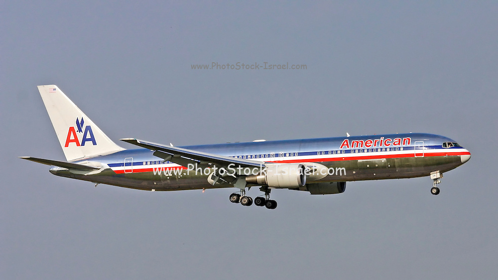 American Airlines, Boeing 767-323. Photographed at Linate airport, Milan, Italy