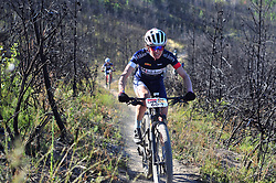 WELLINGTON SOUTH AFRICA - MARCH 23: Sunniva Dring during stage five's 39km time trial on March 23, 2018 in Wellington, South Africa. Mountain bikers gather from around the world to compete in the 2018 ABSA Cape Epic, racing 8 days and 658km across the Western Cape with an accumulated 13 530m of climbing ascent, often referred to as the 'untamed race' the Cape Epic is said to be the toughest mountain bike event in the world. (Photo by Dino Lloyd)