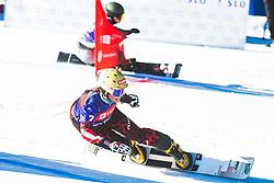 Claudia Riegler (AUT) during parallel giant slalom FIS Snowboard Alpine world championships 2021 on 1st of March 2021 on Rogla, Slovenia, Slovenia. Photo by Grega Valancic / Sportida