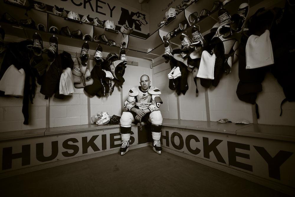 Mike Danton of the St. Mary's Huskies, photographed at Alumni Arena in Halifax, Nova Scotia.
