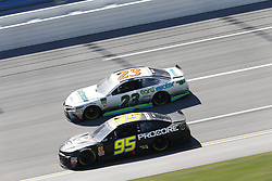 April 29, 2018 - Talladega, Alabama, United States of America - Kasey Kahne (95)  battles side by side down the front stretch for position during the GEICO 500 at Talladega Superspeedway in Talladega, Alabama. (Credit Image: © Justin R. Noe Asp Inc/ASP via ZUMA Wire)