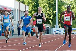 Matic Osovnikar of Slovenia during the men's 100m at athletics meeting Ljubljana Grand Prix 2010 for 5th Memorial Matic Sustersic and Patrik Cvetan on August 29, 2010, in Ljubljana, Slovenia. (Photo by Matic Klansek Velej / Sportida)