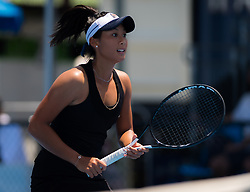 January 8, 2019 - Sidney, AUSTRALIA - Priscilla Hon of Australia in action during her first-round match at the 2019 Sydney International WTA Premier tennis tournament (Credit Image: © AFP7 via ZUMA Wire)