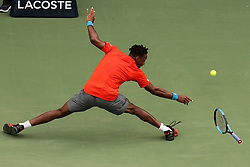 DUBAI, March 1, 2019  Gael Monfils of France reacts during the singles quarterfinal match between Gael Monfils of France and Ricardas Berankis of Lithuania at the ATP Dubai Duty Free Tennis Championships 2019 in Dubai, the United Arab Emirates, Feb. 28, 2019. Gael Monfils of France won 2-1 to proceed to the semifinals. (Credit Image: © Mahmoud Khaled/Xinhua via ZUMA Wire)