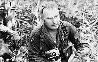 British photographer seen in Vietnam during his time he was embedded with the US Army. 1969.