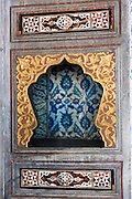 Niche in Privy Chamber of Crown Prince in Topkapi Palace, Sarayi, in Istanbul, Republic of Turkey