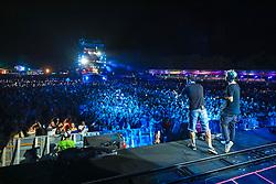 Planeta Azul durante a 24ª edição do Planeta Atlântida. O maior festival de música do Sul do Brasil ocorre nos dias 01 e 02 de fevereiro, na SABA, na praia de Atlântida, no Litoral Norte gaúcho. Foto: Gustavo Roth / Agência Preview