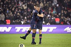 January 19, 2019 - Paris, France - 07 KYLIAN MBAPPE (PSG) - 12 THOMAS MEUNIER (PSG) - JOIE (Credit Image: © Panoramic via ZUMA Press)
