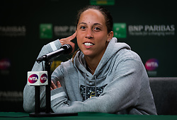 March 9, 2019 - Indian Wells, USA - Madison Keys of the United States talks to the media after her second-round match at the 2019 BNP Paribas Open WTA Premier Mandatory tennis tournament (Credit Image: © AFP7 via ZUMA Wire)