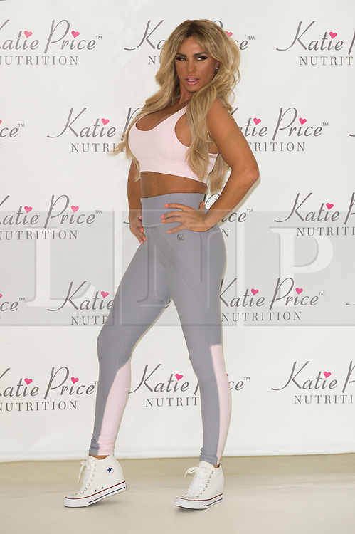 © Licensed to London News Pictures. 25/04/2017. London, UK. KATIE PRICE launches Nutrition, a range of health product in association with NRGFUEL. Photo credit: Ray Tang/LNP