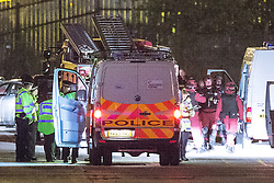© Licensed to London News Pictures . 10/05/2016 . Manchester , UK . Police forces in the North West of England stage a major terrorist incident at the Trafford Centre Shopping Centre in Manchester . Police , fire , ambulance and emergency response services from Merseyside and Manchester take part . Photo credit : Joel Goodman/LNP
