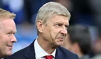 Football - 2017 / 2018 Premier League - Everton vs. Arsenal<br /> <br /> Everton manager Ronald Koeman and Arsene Wenger manager of Arsenal at Goodison Park.<br /> <br /> COLORSPORT