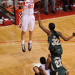 Jan 31, 2009; Piscataway, NJ, USA; Rutgers forward Heather Zurich (21) takes a shot during the second half of South Florida's 59-56 victory over Rutgers in NCAA women's college basketball at the Louis Brown Athletic Center