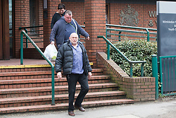 Supporters of Billy Boy Botton charge with murder following a fatal stabbing in Ellerton Road, Wandsworth on April 1st, leave Wimbledon Magistrates Court in London. In a separate unrelated incident Botton was charged with and pleaded guilty to drink driving. London, April 04 2018.
