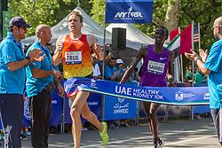 UAE Healthy Kidney 10K, Ben True, USA, nips Stephen Sambu, Kenya at the line to win in 28:13