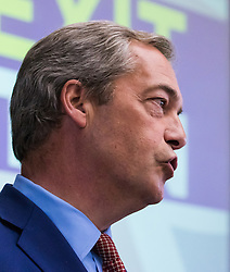 """UKIP leader Nigel Farage announces that he is to step down as Leader of UKIP at a press conference in Westminster, claiming """"we got our country back, now I want my life back""""."""