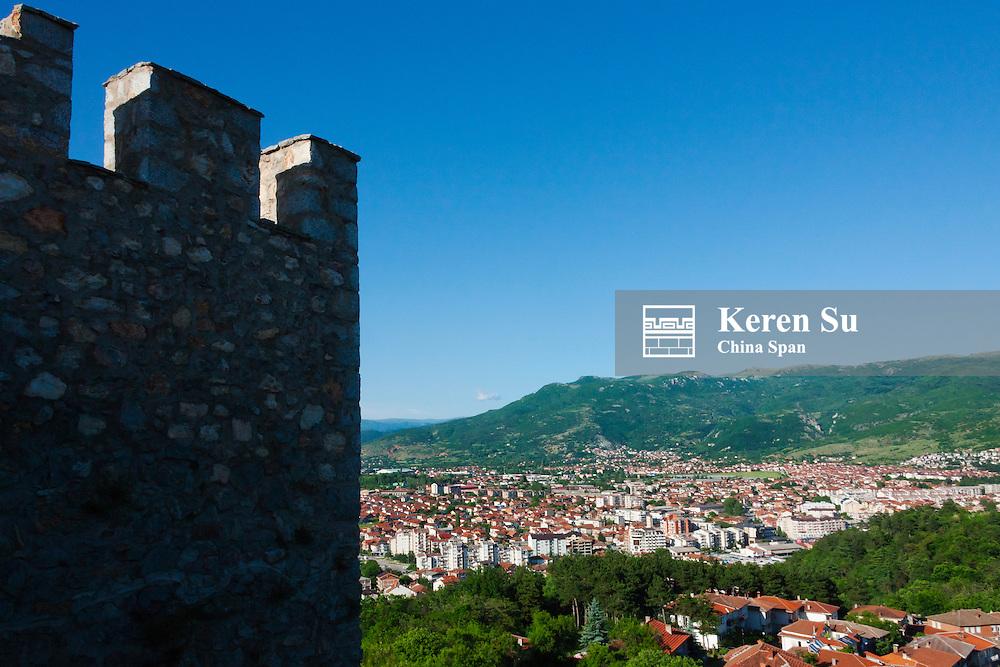 Tsar Samuil's Fortress with Ohrid cityscape, Ohrid, Republic of Macedonia