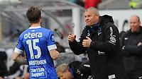 Fotball Tippeligaen Rosenborg - Start<br /> 30  april 2015<br /> Lerkendal Stadion, Trondheim<br /> <br /> Starts trener Mons Ivar Mjelde gir beskjed til Michael Christensen<br /> <br /> <br /> Foto : Arve Johnsen, Digitalsport
