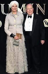 Lady and Lord Fellowes attending the BFI's Luminous fundraising gala, held at the Guildhall, London. Picture date: Tuesday October 3rd, 2017. Photo credit should read: Doug Peters/EMPICS Entertainment