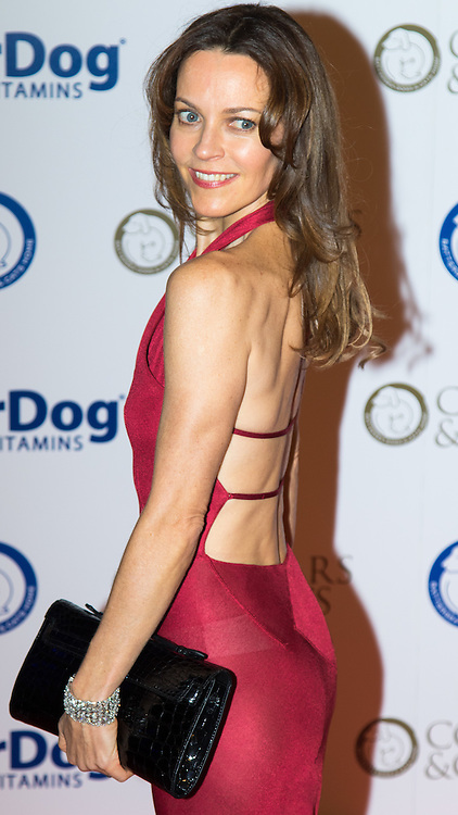 """Battersea, London, November 3rd 2016.  Celebrities and their dogs attend The Evolution at Battersea Park to attend The Battersea Dogs and Cats Home """"Collars and Coats Ball"""". PICTURED: Kim Frickleton"""