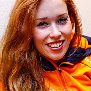NLD/Oranjewoud/20171222 - Perspresentatie leden schaatsteam Justlease, Antoinette de Jong