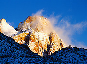 Sunrise on the Sentinel following a winter storm, Zion National Park, Utah.