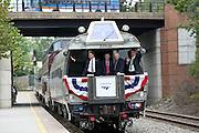 Amtrak train in Charlottesville, VA.  Credit Image: © Andrew Shurtleff