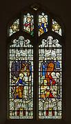 Stained glass window church Saint Margaret, South Elmham, Suffolk, England, UK  c 1910
