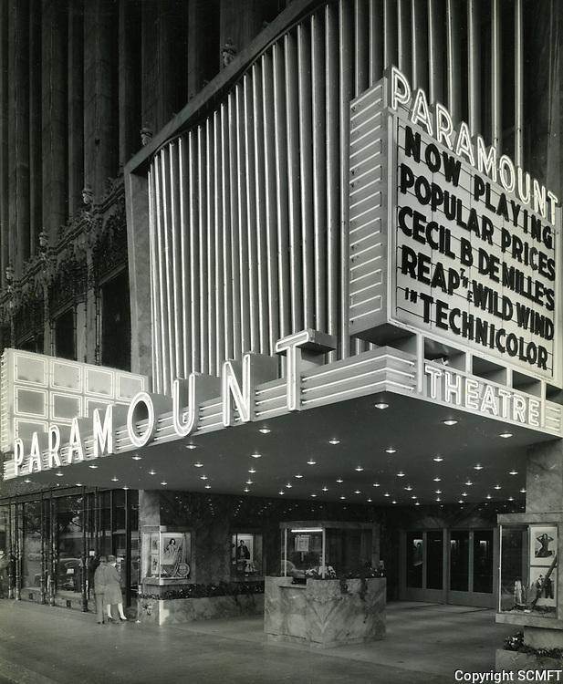 1942 Paramount Theater on Hollywood Blvd.