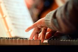 THEMENBILD - Detailaufnahme Musikinstrument, im Bild Detailaufnahme Klavierspiel Haende aufgenommen am 06.09.2013 // THEMES PICTURE - Detail of musical instrument, pictured on 6th of September 2013. EXPA Pictures © 2013, PhotoCredit: EXPA/ Eibner/ Michael Weber<br /> <br /> ***** ATTENTION - OUT OF GER *****